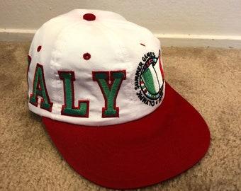 f4640f8c Vintage 1996 Olympics Starter Snapback Hat, Vintage Italy Soccer Hat, Vintage  Snapback