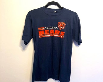 fe0570bf045 Vintage 80s Chicago Bears Trench T-Shirt, Vintage 80s Football T-Shirt,  Vintage Bears T-Shirt - Size Small