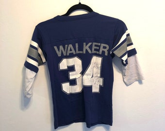 39e69664f5e Vintage 80s Dallas Cowboys Shirt Herschel Walker #34, Vintage 80s Football  T-Shirt, Vintage Jersey - Youth Medium