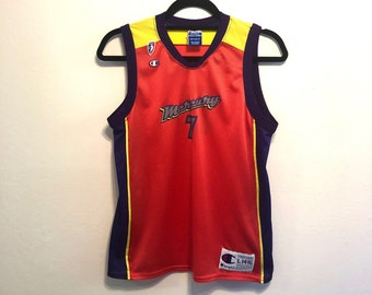 20596bbce78 Vintage 90s Champion Jersey WNBA Basketball #7 Michele Timms, Vintage  Champion Jersey, Vintage Basketball Jersey - Youth L/Men's XS