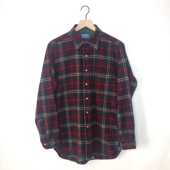 Vintage Pendleton Flannel Shirt 60s Button Up Auth