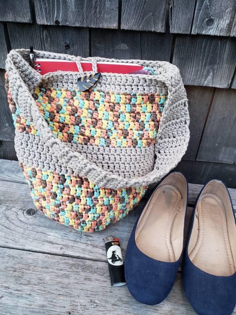 Crochet Market Bag Crochet Beach Bag  Colorful Market Bag  Reusable Grocery Bag  Crochet Grocery Bag  Crochet Handbag