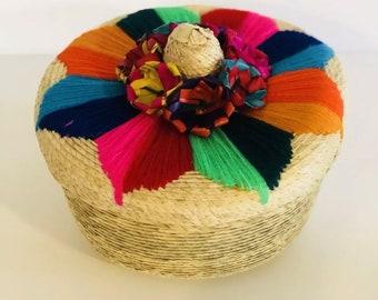Straw Embroidered Sombrero Tortilla Warmer