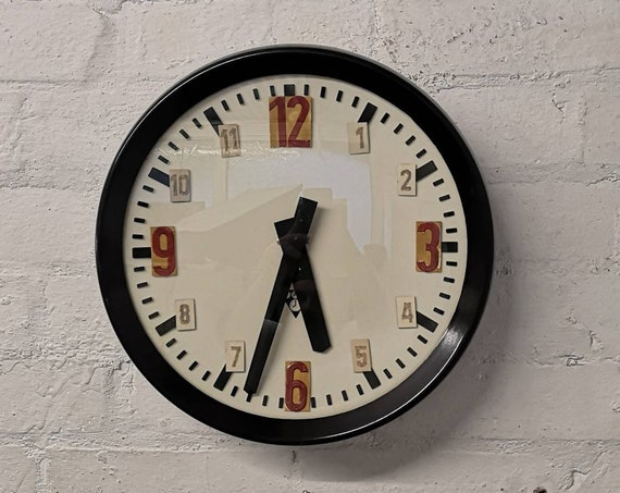 Czech 1960s Bakelite Industrial School Clocks By Pragotron