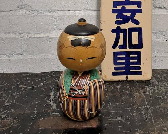 Vintage Traditional Japanese Sosaku Donko Style Kokeshi Doll #215