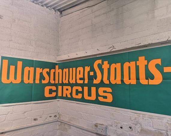 Vintage RARE 1970s Original 3 Piece Circus Poster Advertising Warsaw State Circus