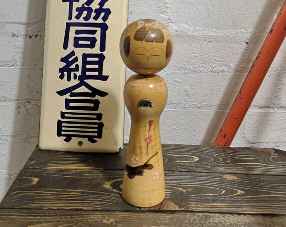 Vintage Japanese Hand Painted Kokeshi Doll By Master Sato Kouson #033