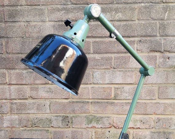 BAUHAUS Curt Fischer 1950's East German Task Lamp By Midgard