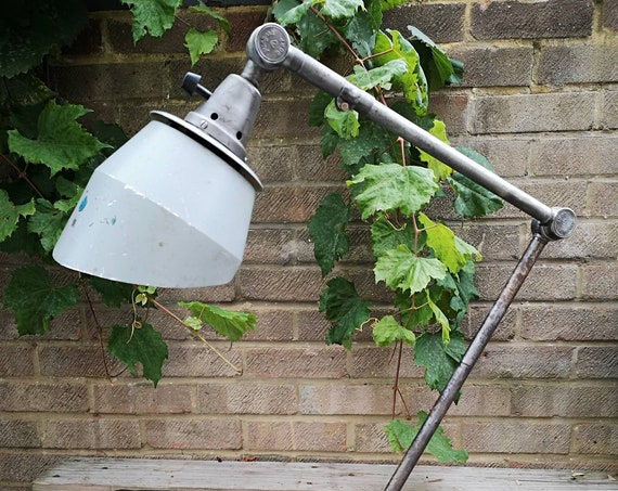 BAUHAUS Curt Fischer 1950's East German Medical Task Lamp By Midgard