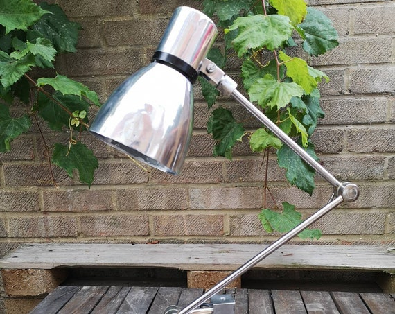 Vintage Industrial Communist Era Czechoslovakian Machinists Lamp