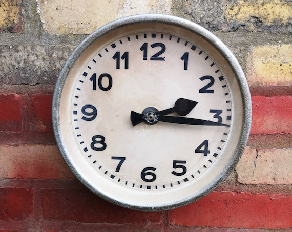 1940's German Industrial Factory Clocks