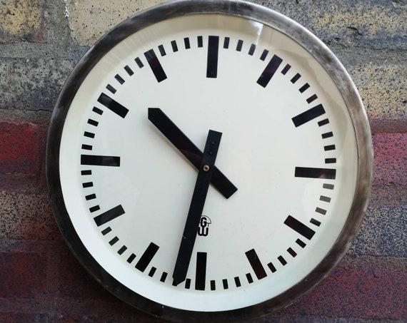 1960s East German Industrial Factory / Office Clocks By GW