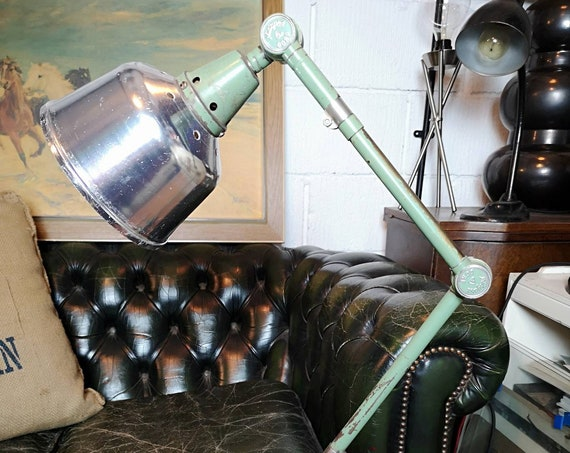 BAUHAUS Curt Fischer 1950s East German Task Lamp By Midgard