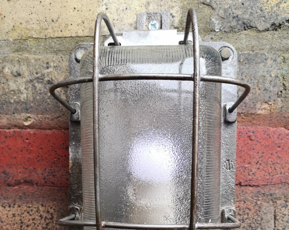 Industrial 1960s Communist Era Polish Explosion Proof Bulkhead Lights