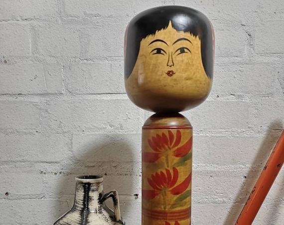 Large Vintage Japanese Yajiro Style Kokeshi Doll By Takeda Norio #066