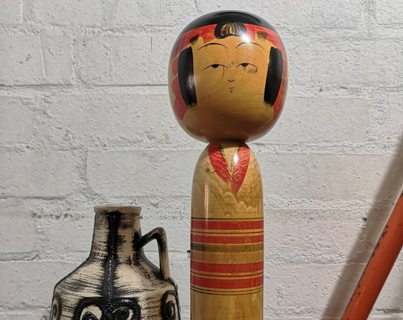 Vintage Traditional Yajirou Style Japanese Kokeshi Doll By Ishikawa Atsujiro #064