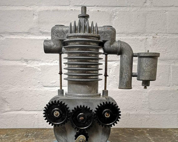 Vintage Learning Aid Cross Section Model Of A 2 Stroke Engine Circa 1970s