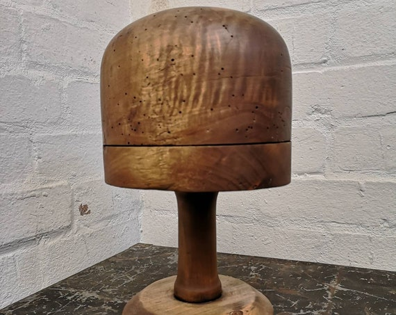 1930s French Wooden Milliners Head Block