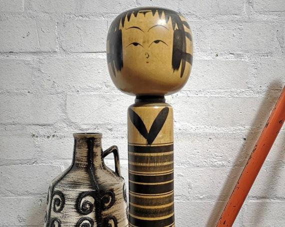 Vintage Traditional Yajirou Style Japanese Kokeshi Doll By Ishikawa Atsujiro #049