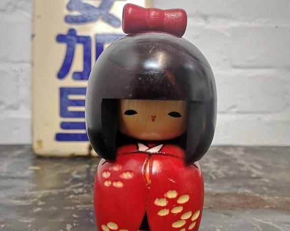 Vintage Japanese Sosaku Style Kokeshi Doll By Tomio Ishida #207