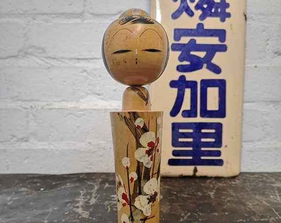 Vintage Traditional Japanese Creative Kokeshi Doll With Movable Head #239
