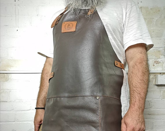 High Grade Leather Craft Work Apron