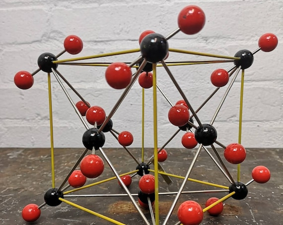 1960s Carbon Dioxide Molecular Model By Leybold