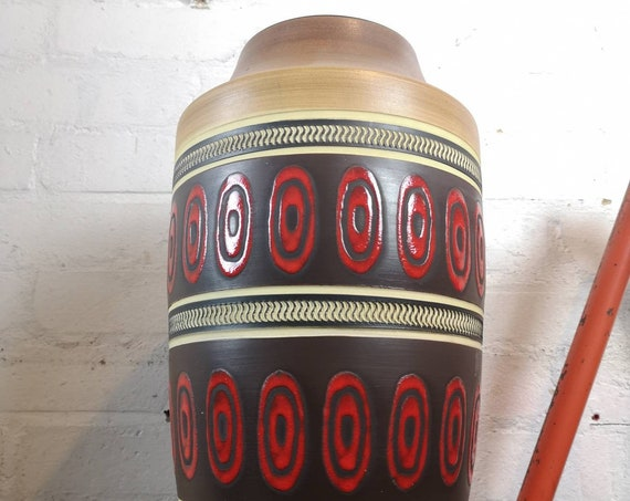 Vintage 1960s West German Pottery Vase FAT LAVA