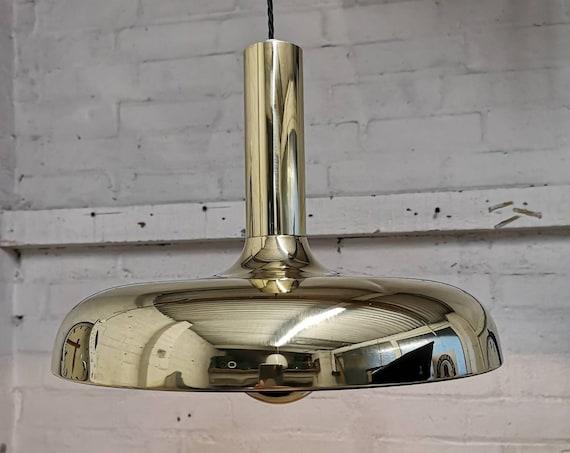 1960s Brass Pendant Lights By Sölken Germany