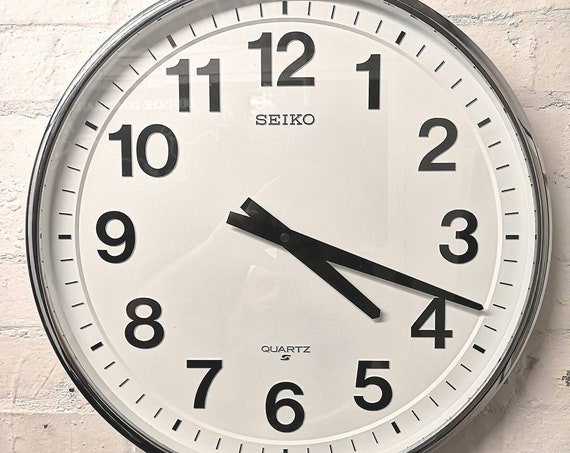 1970s Large Japanese Work Clock By SEIKO