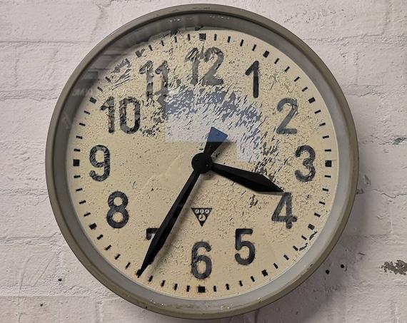 Czech Industrial 1950's Factory Clocks By Pragotron