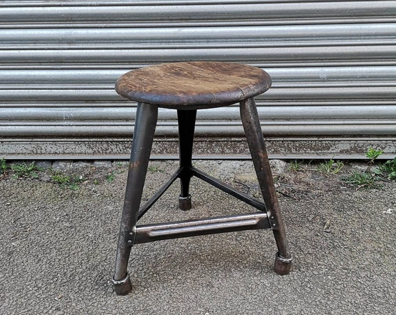 Early 1900s Industrial Machinists Stool By AMA Germany
