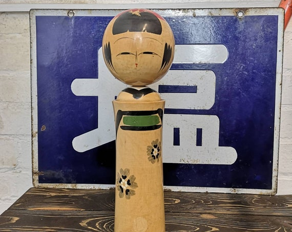 Vintage Traditional Sosaku Japanese Kokeshi Doll By Kiyohara Takao #118