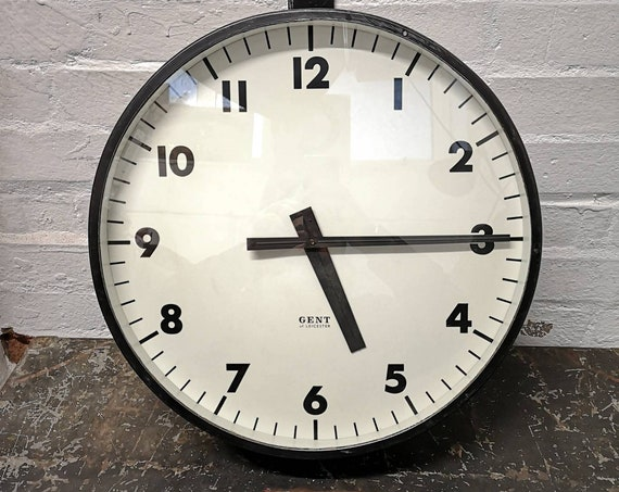 Vintage 1940s Industrial Station Clock By Gents Of Leicester