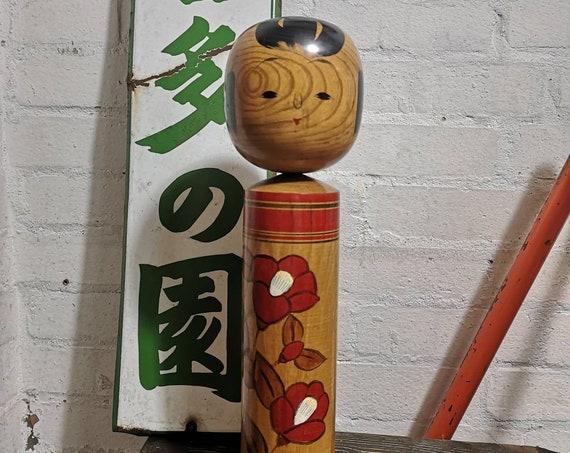 Vintage Large Traditional Japanese Kokeshi Doll #101