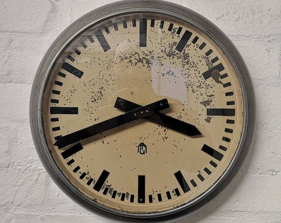 Early 1940s Industrial Clock By GM Switzerland