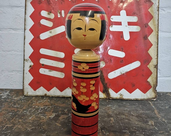 Vintage Traditional Japanese Sendai Kokeshi Doll #129
