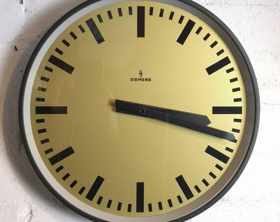 1960s German Factory Clock By Siemens