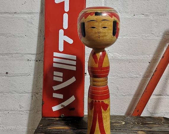 Vintage Traditional Yajirou Style Japanese Kokeshi Doll By Ishikawa Atsujiro #042
