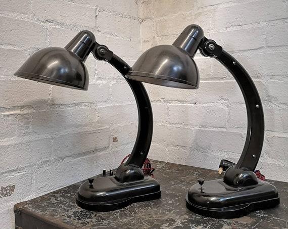 BAUHAUS 1940s Sigma Bakelite Table Lamps By Christian Dell For Heinrich Römmler