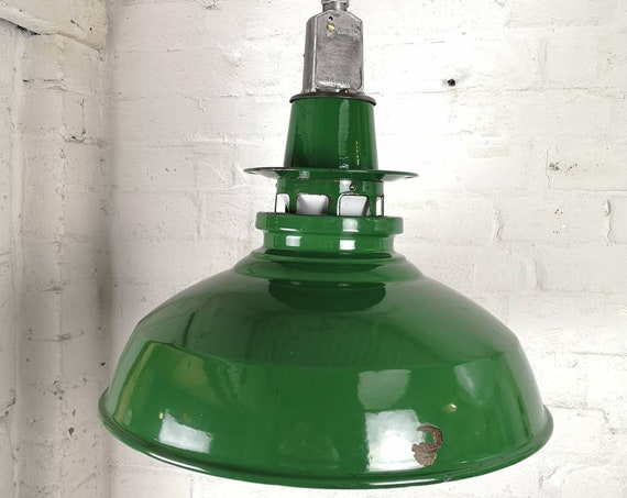 1950s Large Industrial Factory Light By Thorlux