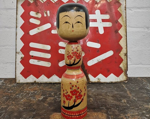 Vintage Traditional Japanese Kokeshi Doll #126