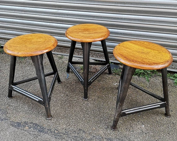 1930s Industrial Stools By AMA Germany