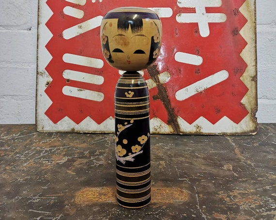 Vintage Traditional Japanese Sendai Kokeshi Doll #132