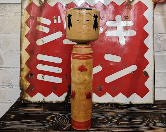 Vintage Traditional Japanese Tougatta Kokeshi Doll #124