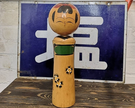 Vintage Traditional Sosaku Japanese Kokeshi Doll By Kiyohara Takao #116