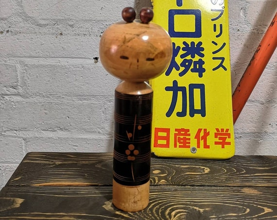 Vintage Japanese Hand Painted Wooden Kokeshi Doll By Takamizawa Kazuo #030
