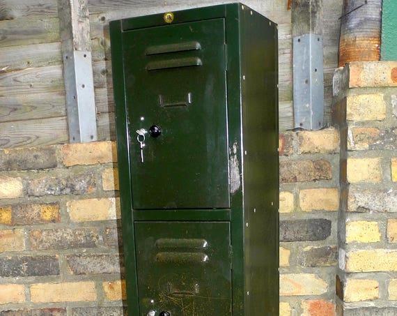 Vintage British Made Metal Locker
