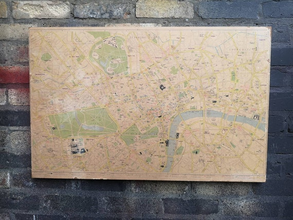Vintage 1970s Map Of London By Geographers Map Co Ltd