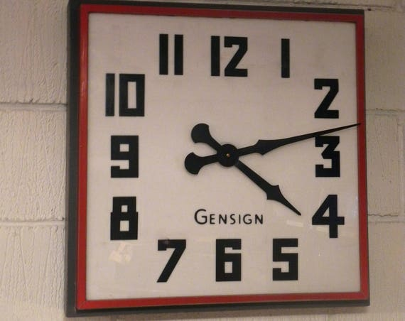 1950's British Made Large Gensign Shop Front Clocks